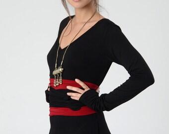 Red Obi belt, Red women's belt, Boho Extra long belt, Women's Belt, Wrap Belt, Waist Tie Belt, Wide belt, High waist belt, Bohemian sash