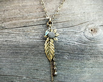 Country Chic Dangle Necklace