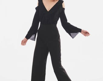 Black Trousers, Suit Pants, Women Black Pants, Oversized Pants, Wide Pants, Plus Size Maxi Pants, Minimalist Pants, Black Casual Pants