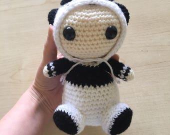 Panda Plushie, Crochet Panda, Amigurumi Panda, Panda Toy, Stuffed Animal, Kawaii Panda, Cute Panda