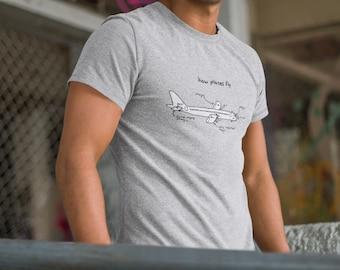 Aerospace Engineer Shirt - How Planes Fly , Aerospace Engineer, Pilot, Aeroplane, Pilot Shirt, Pilot Gift, Engineer shirt, Unisex T-Shirt