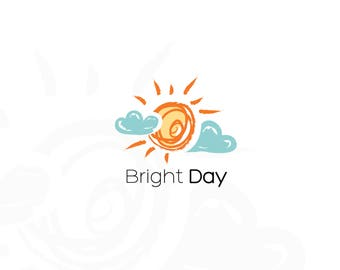 Sun Logo, Bright Logo, Clouds Logo, Logo Watermark, Logo Design, Boutique Logo, Premade Logo, Watermark Logo, Business Logo, Branding Logo