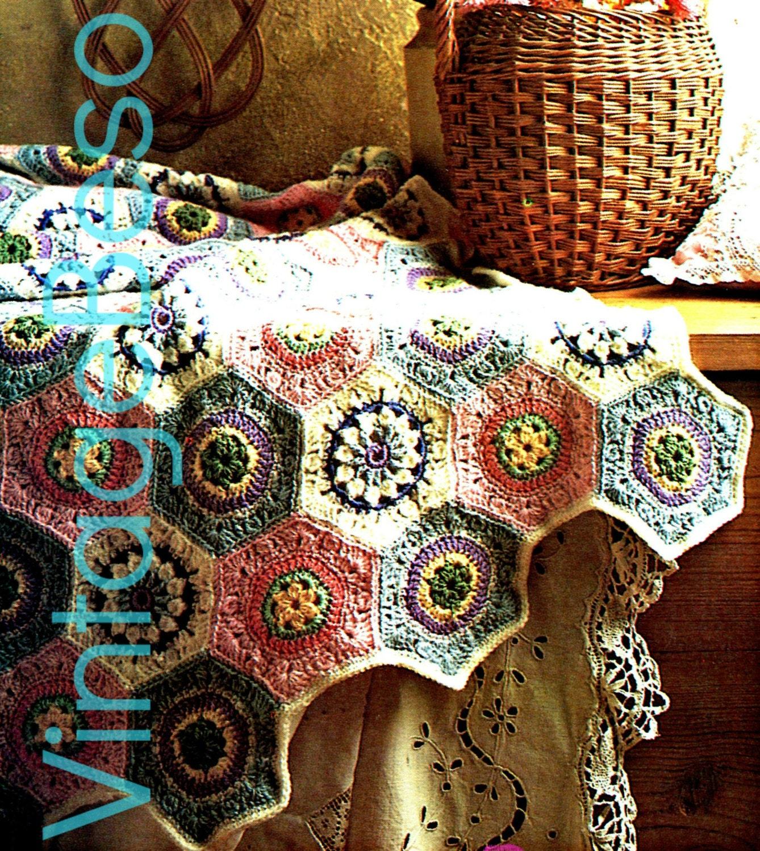 Unique Vintage Wedding Ring Motif Crochet Wedding