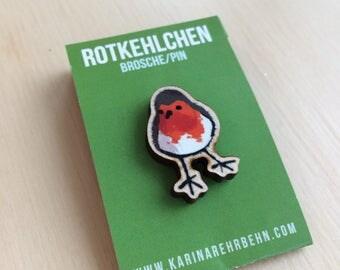 Robin brooch / pin #4