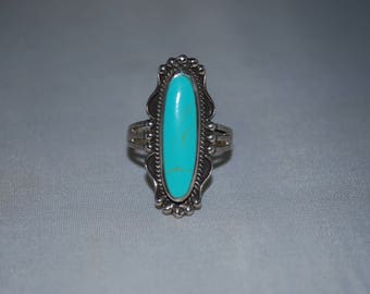 Sterling silver ring size 9 with turquoise setting