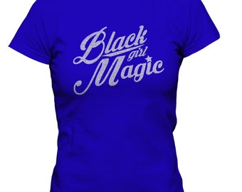 Blue and Silver Black Girl Magic