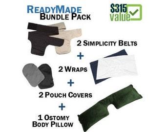 PouchWear ReadyMade Bundle Pack: 2 Simplicity Belts + 2 Wraps + 1 Pillow + 2 Pouch Covers