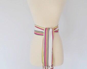 VTG Christian Dior Wide Cotton Tie Waist Belt