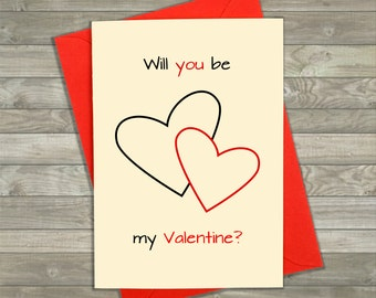 Be My Valentine Card, Valentines Card, Love Hearts, Valentine Card Him, Valentine Card Her, Handmade Cards, Greeting Cards, Be My Girlfriend
