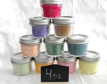 4 oz Jam Jar soy candles, variety of scents