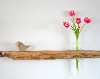 Driftwood Dekoboard vase for the wall