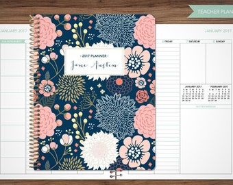 Teacher planner etsy au 2017 2018 teacher planner 2017 2018 planner teacher lesson plan teacher planner tabs weekly pronofoot35fo Gallery