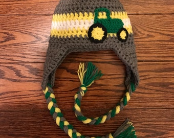 Tractor Ear Flap Hat