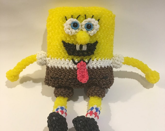 SpongeBob SquarePants Rubber Band Figure, Rainbow Loom Loomigurumi, Rainbow Loom Character