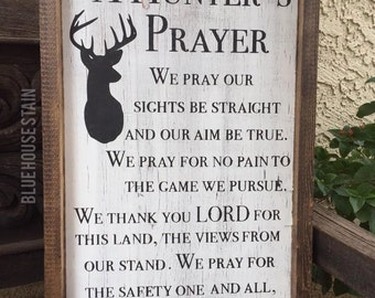 Items Similar To A Hunters Prayer Wood Sign Home Decor