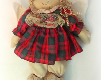 Vintage Handmade Angel: Decorative Doll, Christmas Decoration