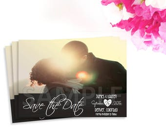 Photo Save the Date, Printable Photo Card, Save the Date Card, Chalkboard Card, Photo Invite, Wedding, Save the Date,Printable Save the Date