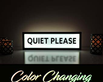 Quiet Please Sign, Quiet Please, Quiet Sign, Quiet Please Light, Quiet Please Light Up Sign, Business Sign, Library Sign, Dorm Room Decor