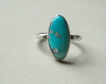 Natural Nevada Turquoise and Sterling Silver Ring