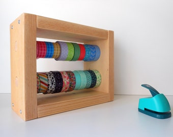 Organizer of washitapes   Washi dispenser   22 rolls   Horizontal storage