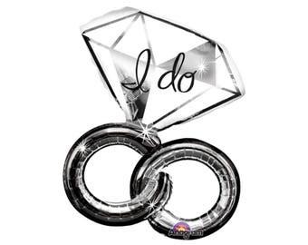 """30"""" Bachelorette Party Decorations - Bachelorette Balloon - Ring Balloons - Bachelorette Decor - Ring Balloon - Wedding Ring - Shower Decor"""
