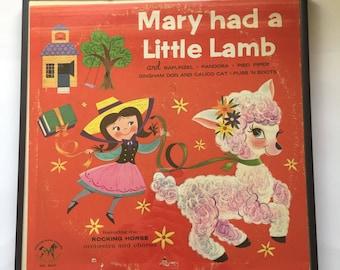 Mary had a little lamb. Vintage Lp