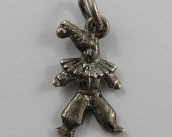 Clown Sterling Silver Vintage Charm For Bracelet
