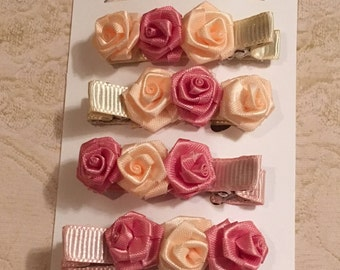 Rosette Hair Clip Bundle
