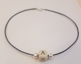 Wooden letter initial choker (all letters available)
