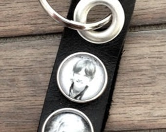 Custom Personalized Photo Keychain, Noosa Style Photo Snap Charm, Photo Jewelry, Ginger Snaps Jewelry, Snap Jewelry, Snap Button, Keychain
