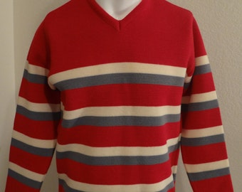 Vintage 70s/80s DEMETRE Medium Virgin Wool Ski Sweater
