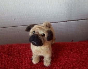 Cute Needle felted pug dog