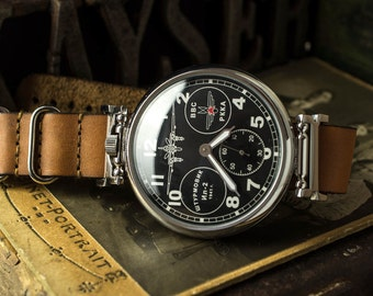 Great watch, Aircraft IL-2, watch Molnija,  soviet watch Men's, watch USSR Working Molnia, Soviet military, gift for him