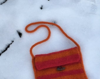 Tequila Sunrise Felted Purse
