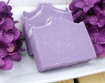 Lavender Soap - Purple Soap - Essential Oil Soap - Natural Soap - Body Soap - Homemade Soap - Gift for Nature Lover - Hostess Gift