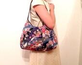 Japanese Kimono Hobo Bag, shoulder Bag, Japanese Cherry Blossom.  phoebe bag, handmade bag, gift for her, mothers day gift, gift for mom