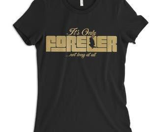 It's Only Forever, Not Long at All - Men's or Women's Labyrinth t-shirt in Black