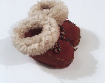 Baby slippers,Genuine shearling slippers for babies F466