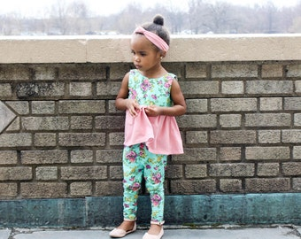 baby girl clothes - baby girl outfit - toddler girl clothes - baby girl easter outfit - baby girl leggings - legging set