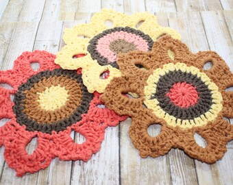 Set of 3 Sunflower Dishcloths
