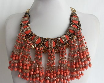 Strass necklace, Statement necklace, Stunning necklace, Kim necklace, Cluster necklace, Collar necklace with Swarovski strass IV160