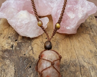 Sunstone Macrame Necklace