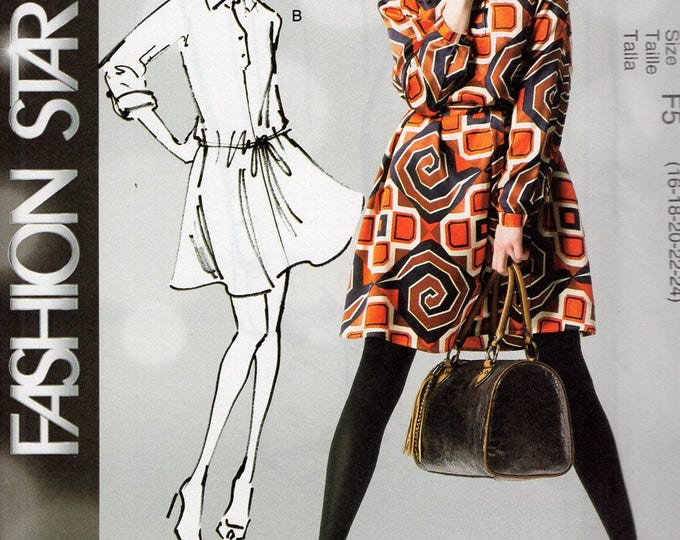 FREE US SHIP McCalls 6600  Fashion Star Drop Waist  Step In Dress Sewing Pattern Size 16/24 Plus Bust 38 40 42 44 46 New