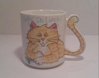 Vintage Cat Coffee Mug