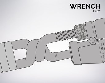 PREY Wrench blueprint 1:1 scale