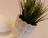 Set of 2 Milk Glass Flora...