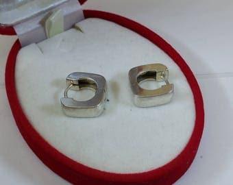 Hoop earrings earrings 925 Silver simply elegant SO170