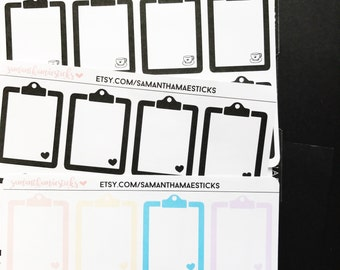 Clipboards for use with Erin Condren Lifeplanner™ Happy Planner Stickers