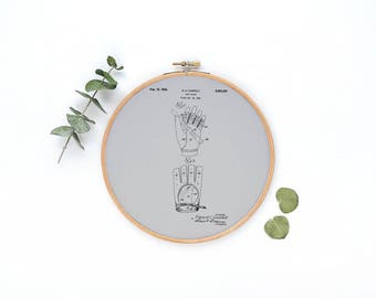 Golf Gloves Patent Canvas Hoop Wall Hanging| Hoop Wall Decor| Wall Hanging Hoop Poster| Canvas Hoop Decor| Fabric Canvas Art