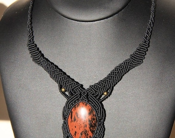 Mahogany Obsidian necklace
